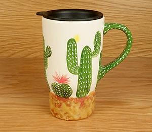 Elk Grove Cactus Travel Mug