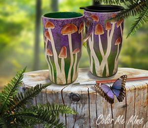 Elk Grove Mushroom Mugs