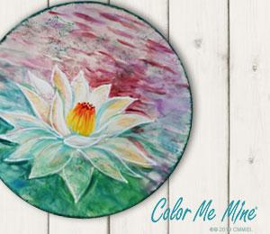 Elk Grove Lotus Flower Plate