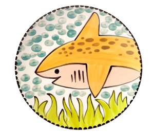 Elk Grove Happy Shark Plate