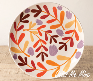 Elk Grove Fall Floral Charger