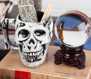 Elk Grove Antiqued Skull Mug
