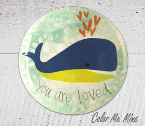 Elk Grove Whale Love Plate