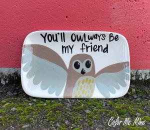 Elk Grove Owl Plate